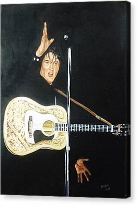 Elvis 1956 Canvas Print by Bryan Bustard