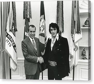 Elvis And Nixon Canvas Print