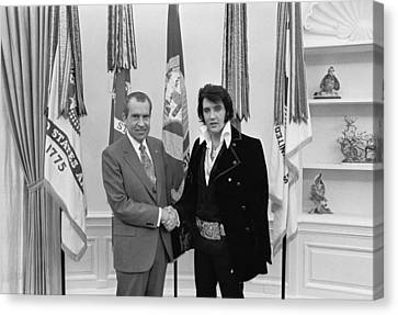 D.c. Canvas Print - Elvis And The President by Mountain Dreams