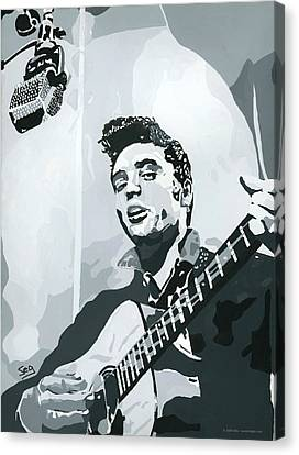 Elvis At Sun Canvas Print by Suzanne Gee