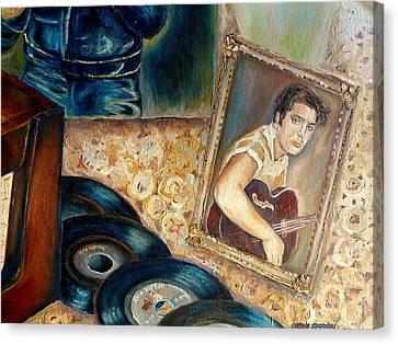 Elvis Country Boy Canvas Print by Carole Spandau