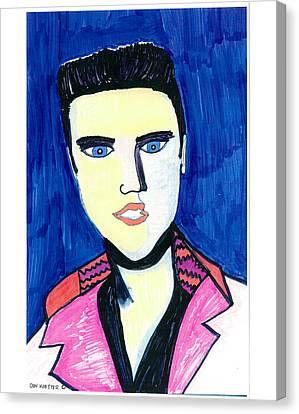 Canvas Print featuring the painting Elvis by Don Koester