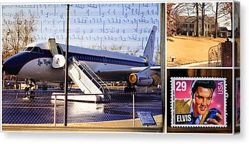 Elvis Canvas Print by Donna Kennedy