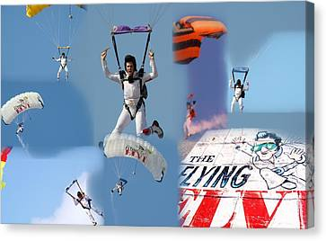 Elvis In The Sky Canvas Print