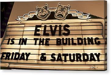 Elvis Is In Canvas Print