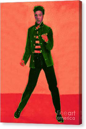 Elvis Is In The House 20130215m40 Canvas Print by Wingsdomain Art and Photography