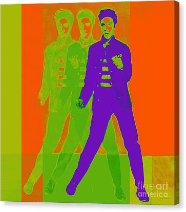Elvis Jail House Rock 20130215m28 Canvas Print by Wingsdomain Art and Photography