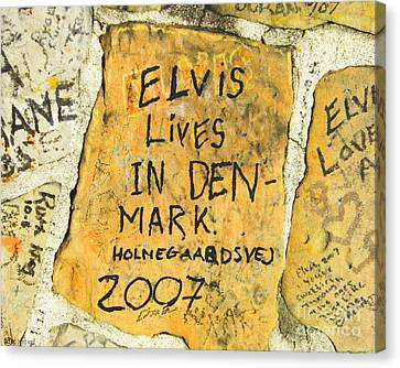 Canvas Print featuring the photograph Elvis Lives In Denmark by Lizi Beard-Ward
