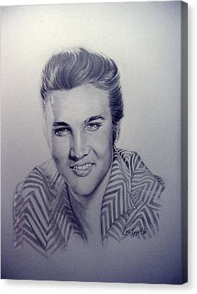 Elvis Canvas Print by Lori Ippolito