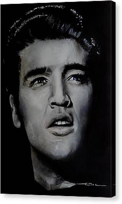Elvis- Mississippi Trucker Canvas Print by Eric Dee