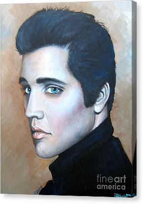 Canvas Print featuring the painting Elvis by Patrice Torrillo
