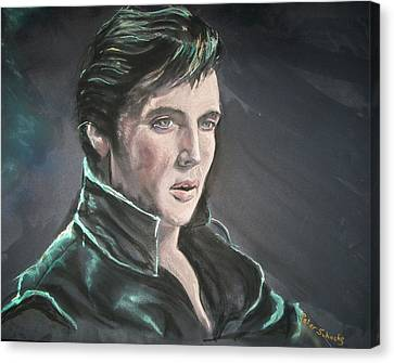 Canvas Print featuring the mixed media Elvis by Peter Suhocke