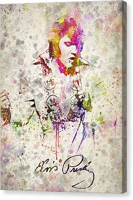 Elvis Canvas Print - Elvis Presley by Aged Pixel