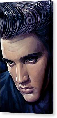 Elvis Presley Artwork 2 Canvas Print by Sheraz A