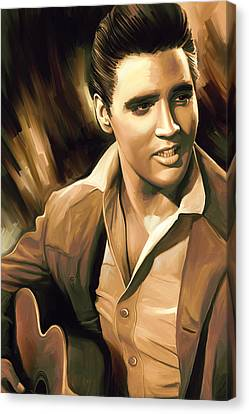 Elvis Presley Artwork Canvas Print