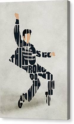 Elvis Presley Canvas Print by Ayse Deniz