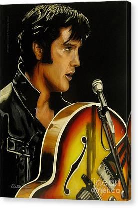Elvis Presley Canvas Print by Betta Artusi
