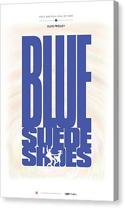 Elvis Canvas Print - Elvis Presley - Blue Suede Shoes by David Davies