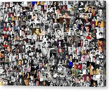 Elvis Presley Collage Canvas Print by Chris Smith