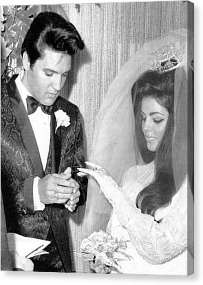 Elvis Presley Getting Married Canvas Print by Retro Images Archive