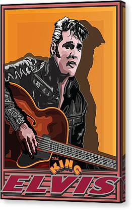 Elvis Presley Canvas Print by Larry Butterworth