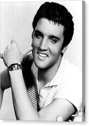 Elvis Presley Looking Casual Canvas Print by Retro Images Archive