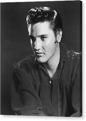 Elvis Presley Looks Into The Distance Canvas Print by Retro Images Archive