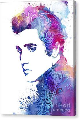 Elvis Presley Canvas Print - Elvis Presley by Watercolor Girl