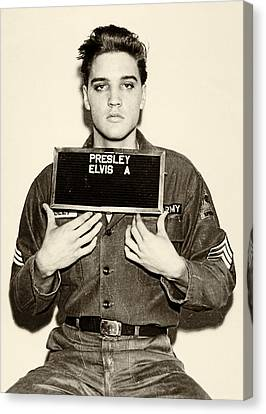 Elvis Canvas Print - Elvis Presley - Mugshot by Bill Cannon