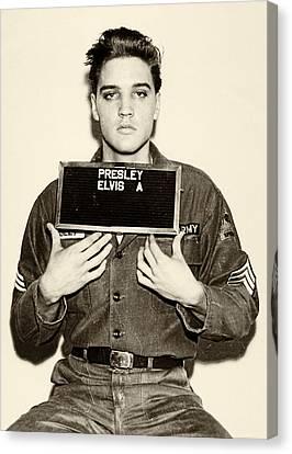 Elvis Presley - Mugshot Canvas Print by Bill Cannon