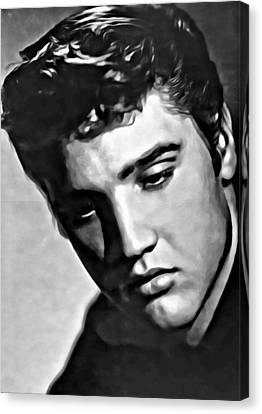 Elvis Presley Painting Canvas Print by Florian Rodarte