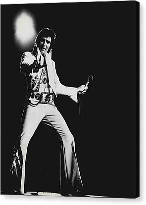 Elvis Presley On Stage Canvas Print by Retro Images Archive
