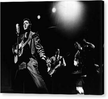Elvis Presley Playing Hard  Canvas Print by Retro Images Archive