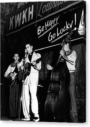 Elvis Presley Playing Radio Event Canvas Print by Retro Images Archive