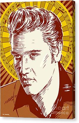 Elvis Presley Pop Art Canvas Print by Jim Zahniser