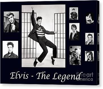 Elvis Presley - The Legend Canvas Print by Darleen Stry