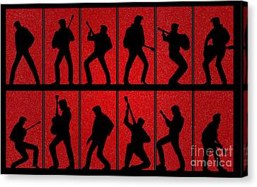 Elvis Silhouettes Comeback Special 1968 Canvas Print