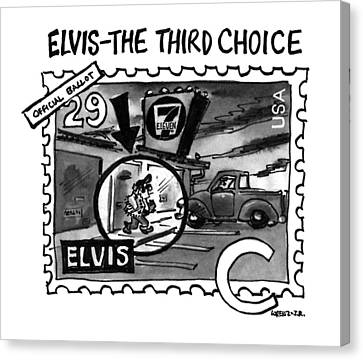 Elvis - The Third Choice Canvas Print by Lee Lorenz