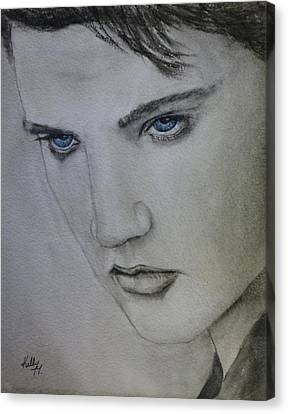 Elvis Presley Canvas Print - Elvis's Blue Eyes by Kelly Mills