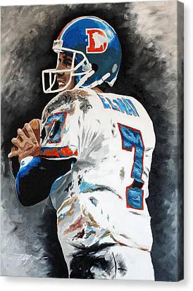 Elway Canvas Print by Don Medina