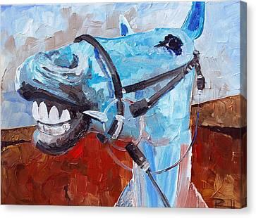 Sean Horse Canvas Print - Elway by Sean Parnell