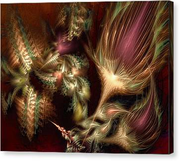 Canvas Print featuring the digital art Elysian by Casey Kotas