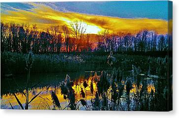 Canvas Print featuring the photograph Emagin Sunset by Daniel Thompson