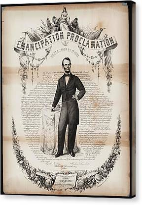 Emancipation Proclamation Canvas Print by Celestial Images