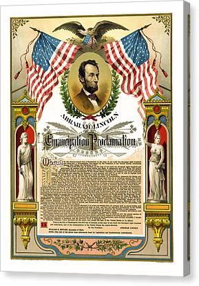 Emancipation Proclamation Tribute 1888 Canvas Print by Daniel Hagerman