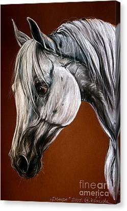Emanda Canvas Print by Angel  Tarantella