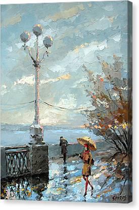 Embankment Canvas Print by Dmitry Spiros