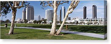 Embarcadero Marina Park, San Diego Canvas Print by Panoramic Images