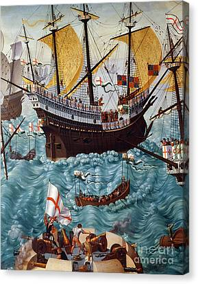 Embarkation Of Henry Viii Canvas Print by Friedrich Bouterwek