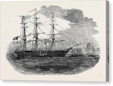 Embarkation Of The 3rd Regiment Of Lancashire Militia Canvas Print